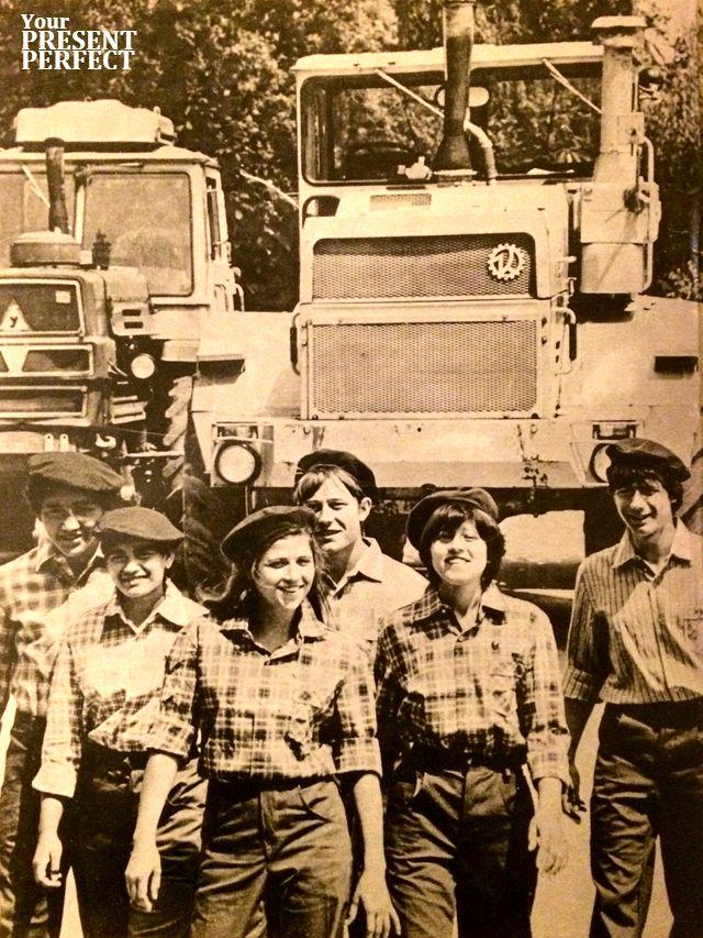 Механизаторы 1986 г.