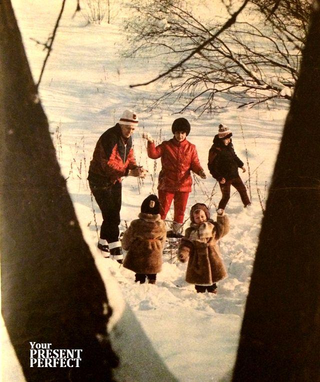 Игра в снежки. 1986 г.
