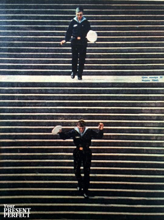 Одесса. Потемкинская лестница. 1969 год.