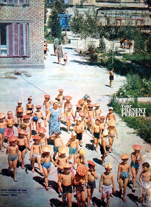 Самарканд. Детский сад - ясли в новом жилом районе города. 1970 год.