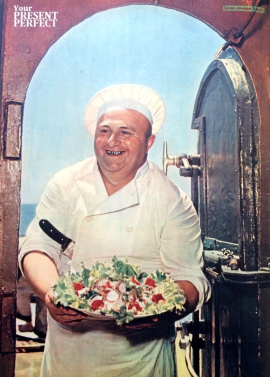 1956. Двадцать три года служит на Черноморском флоте кок-инструктор Константин Григорьевич Бебия.