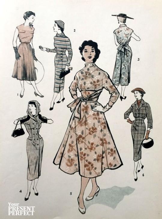 1956. Международный конкурс одежды (1. ГДР; 2. Чехословакия; 3. Румыния; 4. СССР; 5. Польша; 6. Венгрия.)