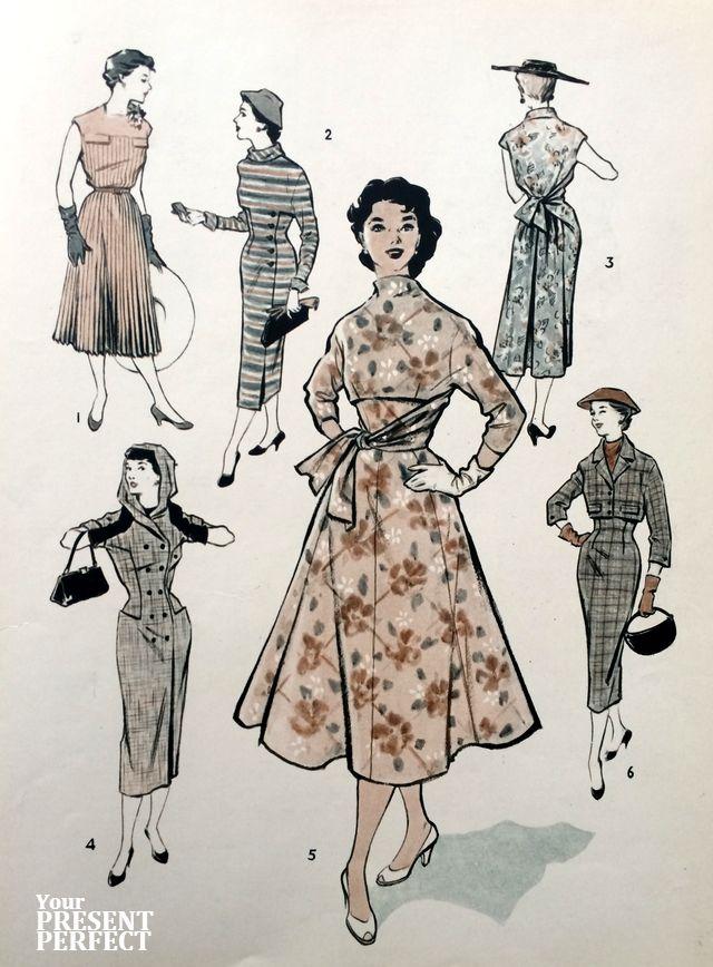 1956. Международный конкурс одежды (1. ГДР; 2. Чехословакия; 3. Румыния; 4. СССР; 5. Польша; 6. Венгрия).