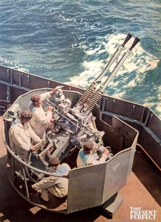 1956. Черноморский флот на учениях.