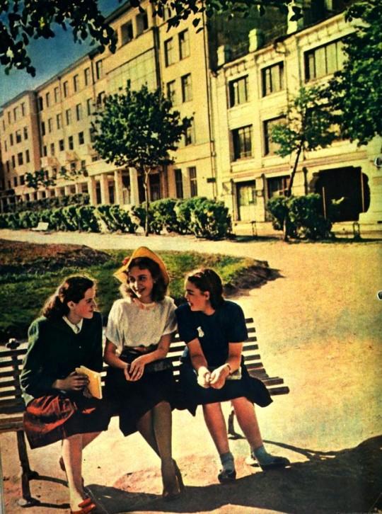1952 год. Старые фотографии из советских журналов.